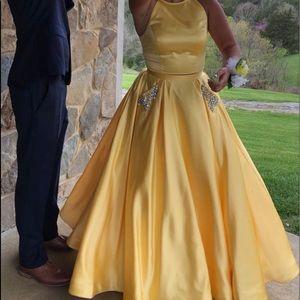 Yellow Sherri Hill Dress